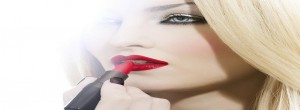 red lipstick 300x110 The Perfect Makeup Tips For Women With Fair Skin